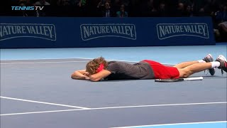 CHAMPIONSHIP POINT: Alexander Zverev wins the 2018 Nitto ATP Finals!