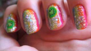 Rainbow Nails Tutorial! Thumbnail