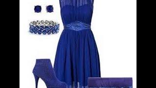 видео С чем носить синее платье