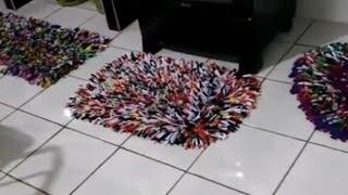Faça Jogo Completo de Tapete de Canudinhos