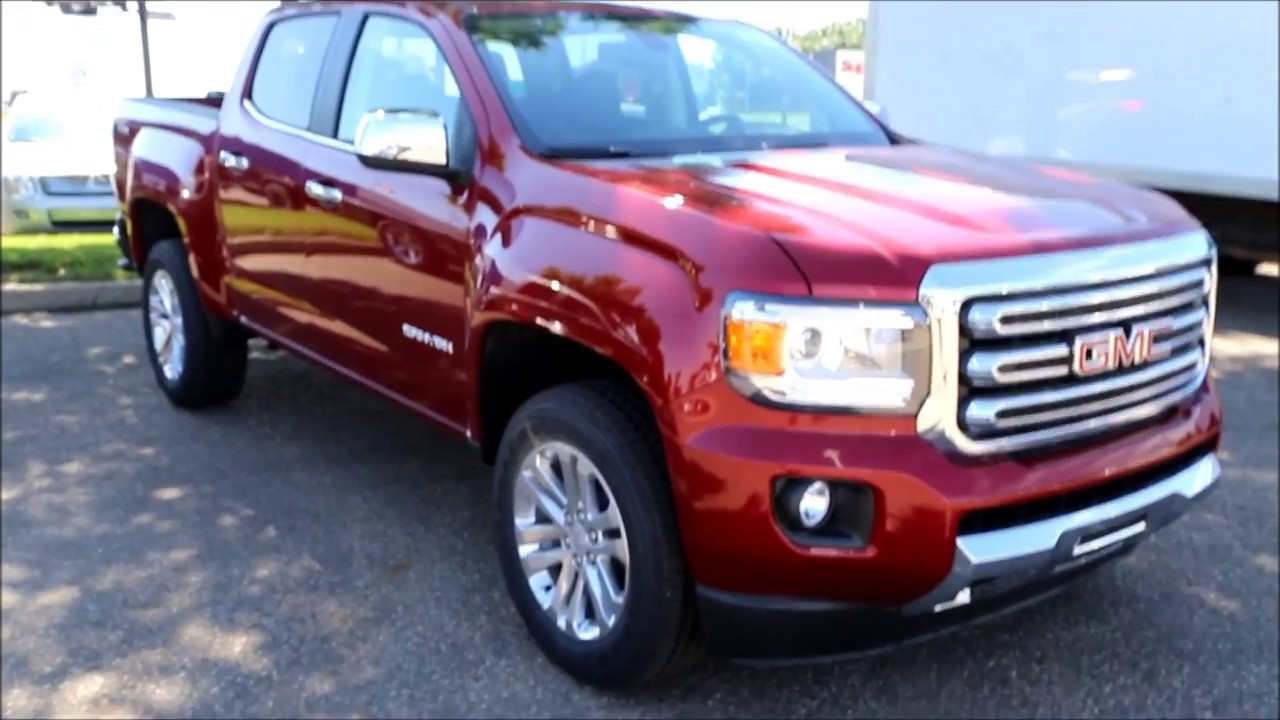 NEW 2017 Red Quartz Tintcoat GMC Canyon SLT for sale in Medicine Hat, Alberta - YouTube