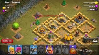 How to take down faulty tower (clash of clans