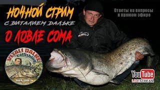 НОЧНОЙ СТРИМ Рыбалка на сома ответы на ваши вопросы Виталий Дальке
