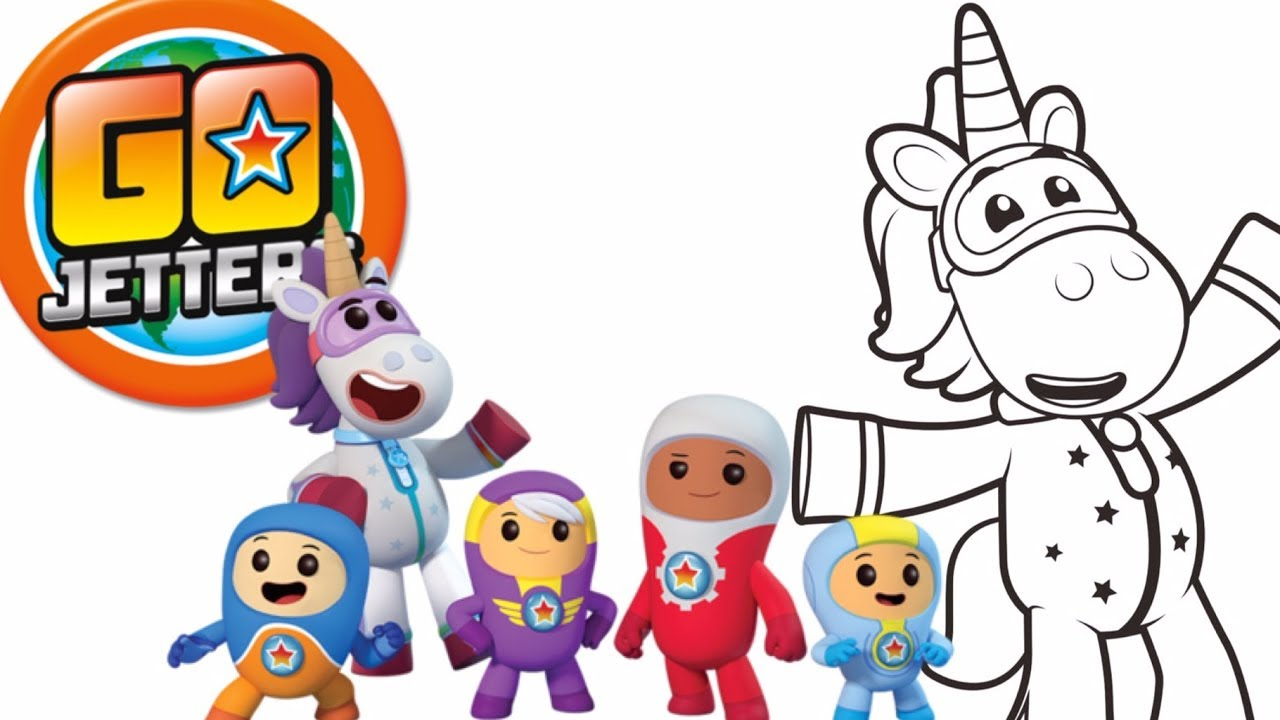 Go Jetters Colouring Pages Go Jetters Coloring Videos Cartoons For Kids