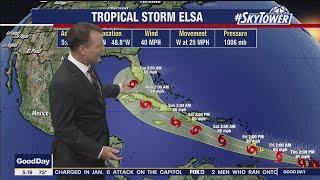 Tropical Storm Elsa forms