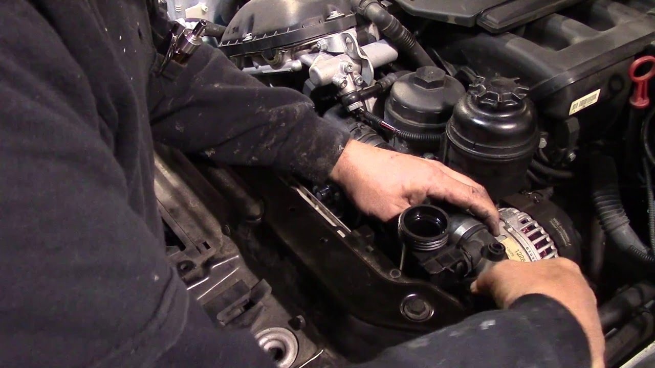 hight resolution of 2003 bmw water pump replacement how to