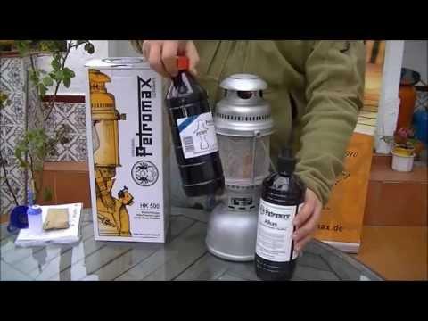 Lámpara de petróleo Petromax HK500 - Descripción, puesta en marcha y utilización