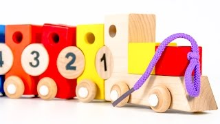 "Video For Children ""wood Toys"" Educational Number Train 1-10"