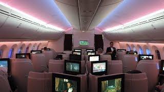 Qatar Airways B787 Business Class, Helsinki-Doha