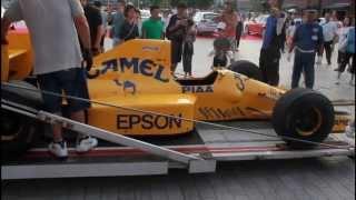 【Formula 1】 Lotus 101がトランスポーターに収納される様子【横浜赤レンガ倉庫】