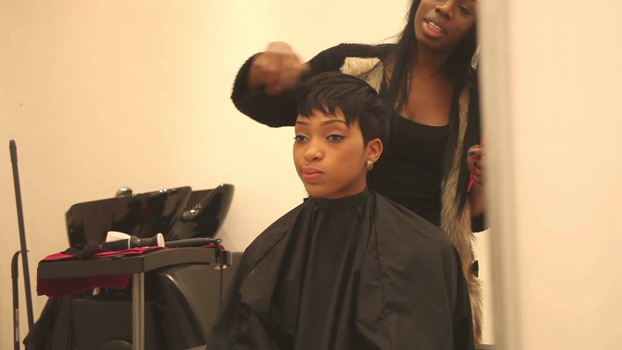 Short Quick Weave with Leave Out Hair