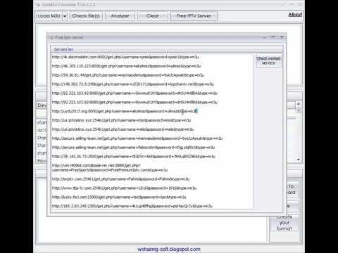UniM3u Converter Version 2 2 with url checker iptv converter تحويل روابط  الايبي تيفي