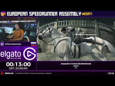 #ESA17 Speedruns - Assassin's Creed: Brotherhood [Any%] by Ectortutu