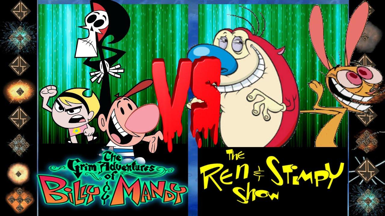 Download Grim, Billy, & Mandy (Cartoon Network) vs Ren & Stimpy (Nickelodeon) - Ultimate Mugen Fight 2016