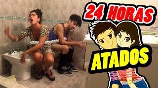 24 HORAS ATADOS con mi HERMANA ⏰