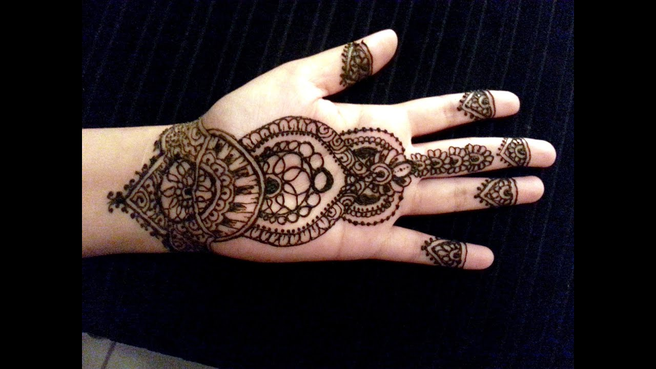 Simple Mehndi Tattoo Hands : Arabic simple henna latest mehndi design how to apply
