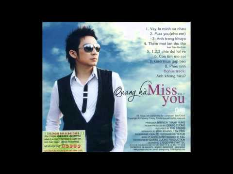 ALBUM - MISS YOU  - QUANG HÀ