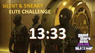 The Diamond Casino Heist Silent & Sneaky 13:33 Elite Challenge GTA Online [PS4]
