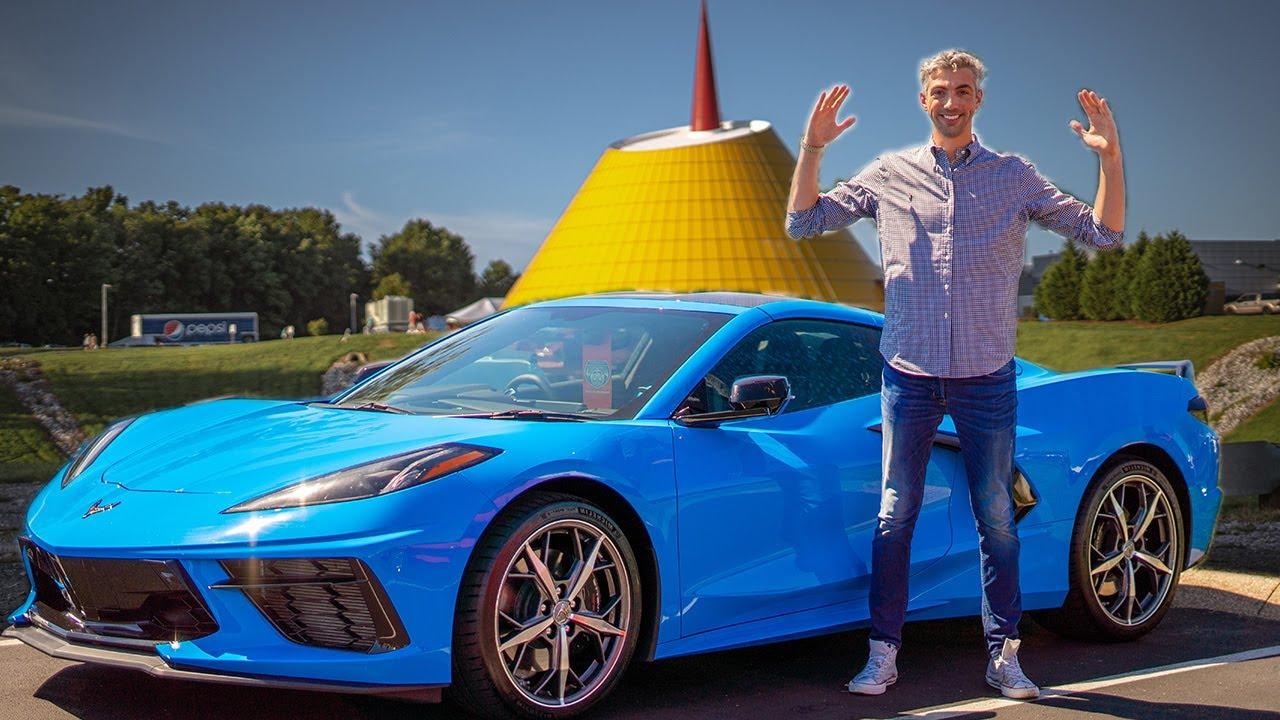 2020 C8 Corvette In Rapid Blue In The Wild Youtube