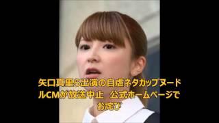 矢口真里ら出演の自虐ネタカップヌードルCMが放送中止 公式ホームページ...