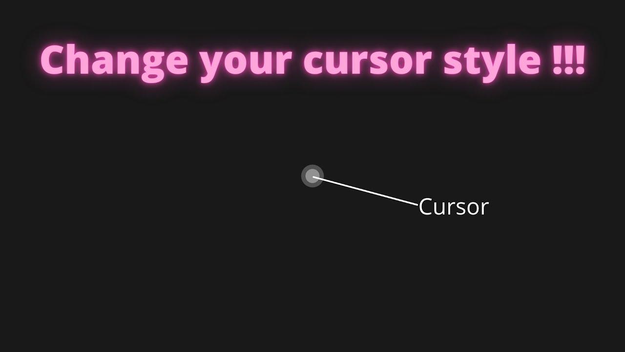 Custom Cursor using Pure Javascript || A Pure Vanilla JavaScript Project