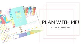 PLAN WITH ME! August 20 - August 26 | SINGLE WORKING MOM