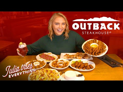 Trying ALL Of The Most Popular Menu Items At Outback Steakhouse