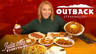 Trying ALL Of Tнe Most Popular Menu Items At Outback Steakhouse