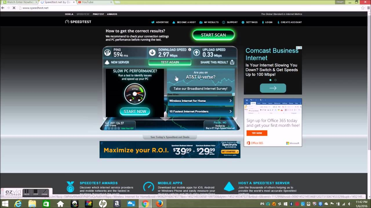 2wire Speed Test Att - WIRE Center •