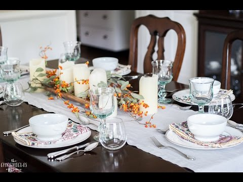 Easy fall table setting & Easy fall table setting - YouTube