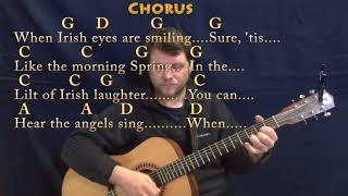 When Irish Eyes Are Smiling (Traditional) Guitar Lesson Chord Chart in G with Chords/Lyrics