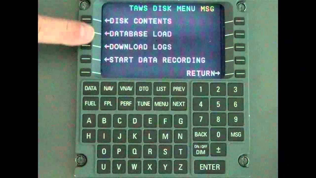 Universal TAWS Database Loading