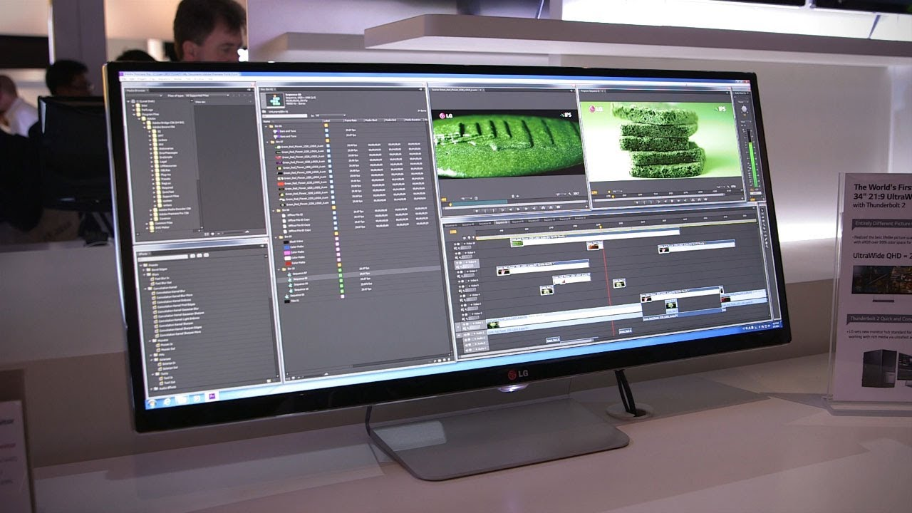ba25e22d3 LG 34-inch UltraWide QHD Monitor First Look - CES 2014 - YouTube
