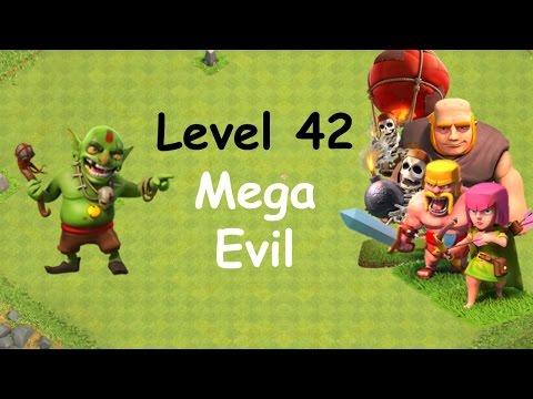 Clash of Clans - Single Player Campaign Walkthrough - Level 42 - Mega Evil