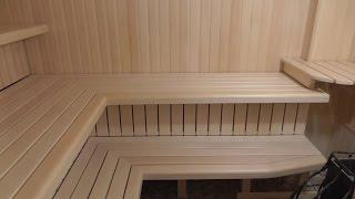 Уникальный монтаж двухярусных полков в парной./Making a sauna