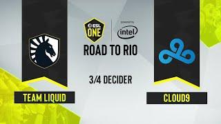 CS:GO - Team Liquid vs. Cloud9 [Dust2] Map 1 - ESL One: Road to Rio - 3/4 Decider - EU