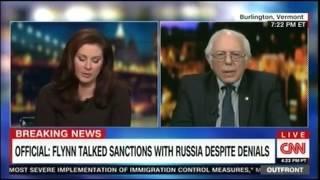 "CNN cuts off Bernie Sanders after he calls CNN ""fake news"""