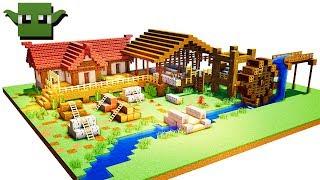 Minecraft Medieval Sawmill Tutorial (EASY 5X5 BUILDING SYSTEM)