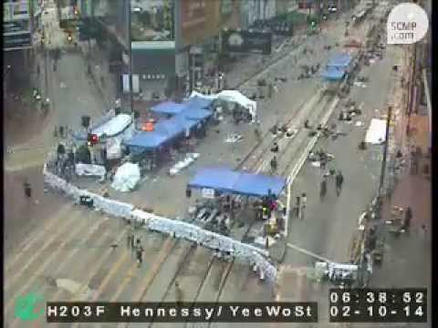 75-day time-lapse of the Occupy Causeway Bay site (September 28 to December 12, 2014)