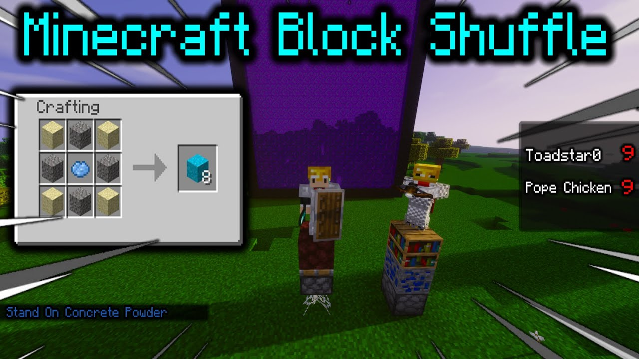 Minecraft Block Shuffle But It S A Competition Youtube