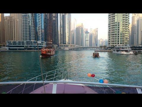 Yacht Party   Dubai Marina Yacht   Palm Jumeirah   Burj Al Arab   Sun Set at Yacht