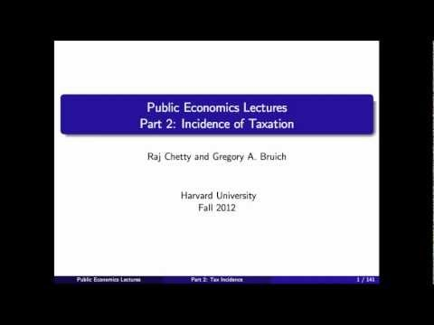 Topic 2: Tax Incidence Part 1 | Economics 2450A: Public Economics