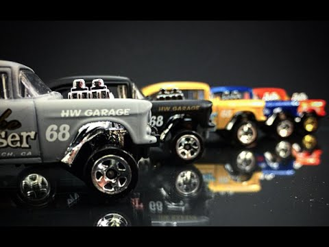 Hot Wheels 55 Chevy Bel Air Gasser Review Youtube