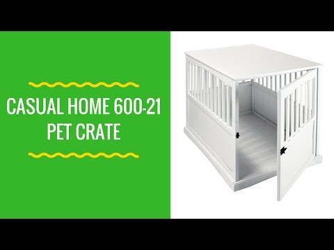 Casual Home 600 21 Pet Crate,White, 27 Inch