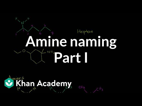 Amine naming introduction | Amines | Organic chemistry | Khan Academy