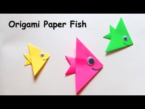 How To Make Paper Fish ? Origami Paper Fish Tutorial