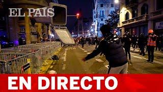 DIRECTO | Nueva jornada de PROTESTAS en BARCELONA por el encarcelamiento de PABLO HASÉL