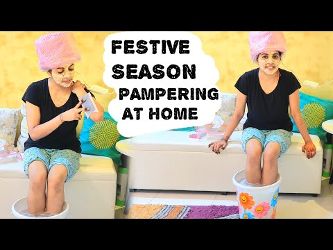 Festive Season Hair & Skin Pampering at Home| Hindi Vlogs