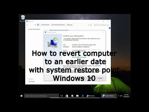 Backdating computer system