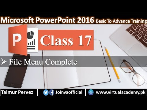 Microsoft PowerPoint Complete Video Tutorials | File Menu Complete.  17 thumbnail